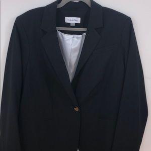 Calvin Klein Blue Blazer (Plus Size)